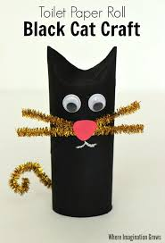 black cat craft for halloween cat crafts toilet paper roll and
