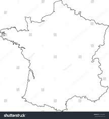 France Map Outline by France Country Map Outline Graphic Vector Stock Vector 510442981
