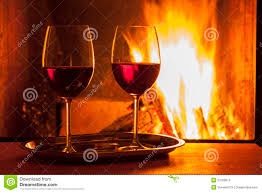red wine at fireplace stock image image of drink winter 33769913