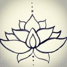 Simple Lotus Flower Drawing - lotus flower design my designs pinterest lotus flower design