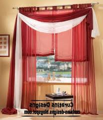 Red Scarf Valance Wonderful Red Valance Curtains And Ikat Window Valances With
