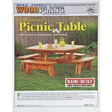 knock down picnic table plans square picnic table plan rockler woodworking and hardware