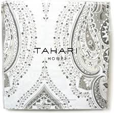 Black And White Paisley Shower Curtain - tahari luxury bohemian style persian moroccan medallion cotton