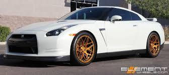 Nissan Gtr Gold - 20 inch staggered mrr fs01 bright gold wheels on 2009 nissan gtr w