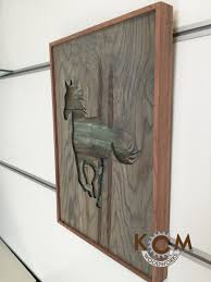 framed art horse hand painted rustic wood sign distressed