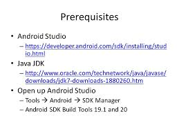 developer android sdk prerequisites android studio https developer android sdk