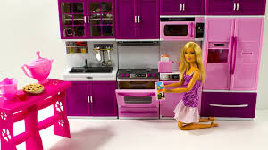 Barbie Dolls House Furniture Barbie Doll House Kitchen Cooking Playset Unboxing For Kids Youtube