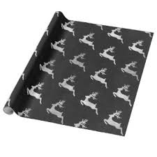 black and silver wrapping paper zazzle