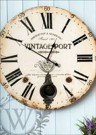 Large Shabby Chic Wall Clock by Retro Modern Vintage Cream Wall Clock 31cm U2013 Beaumonde New