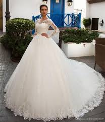 wedding poofy dresses sleeve lace wedding dresses appliques plus