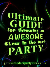 blacklight party supplies in the party ideas