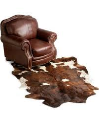 cowhide leather area rug sheplers