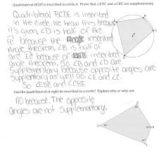inscribed quadrilaterals students are asked to prove that opposite