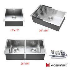 Handmade Stainless Steel Kitchen Sink SingleDouble Bowl - Single or double bowl kitchen sink
