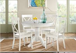 brynwood white 5 pc round dining set dining room sets white