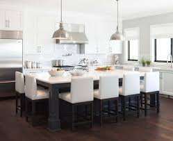 kitchen island table with chairs long within inspirations 16