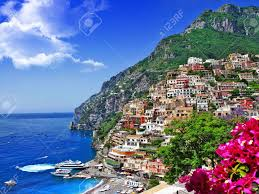 Positano Italy Map by