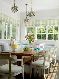 Breakfast Banquette Star Pendant Light Fixture Dining Room Traditional With Banquette