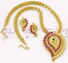 indian bead jewelry necklace images Nl2875 beaded jewellery temple kempu south indian traditional gold JPG