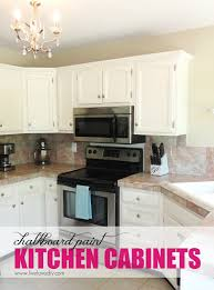 LiveLoveDIY The Chalkboard Paint Kitchen Cabinet Makeover - White chalk paint kitchen cabinets