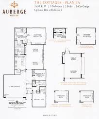 auberge at del sur the cottages floor plans new homes
