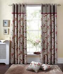 Shabby Chic Floral Curtains by Shabby Chic Curtains Ebay