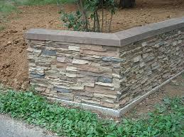 Faux Stone Planters by Landscape Retaining Walls Ideas With Faux Stone U0026 Brick