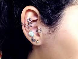 ear cuffs on both ears 396 best ear cuffs images on earrings gemstone