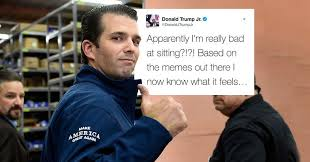 Sitting Meme - donald trump jr responds to meme that suggests he can t sit correctly