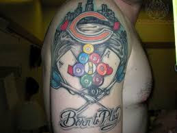 chicago sports logo tattoo on arm real photo pictures images