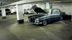 lowered mercedes w123 mercedes benz 300 sel 6 3 start up u0026 air suspension lift youtube