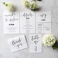 wedding invitation suite modern calligraphy wedding invitation suite in etsy shop frella