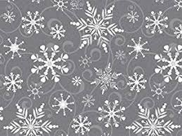 black gift wrapping paper swirling snowflakes gray white silver christmas