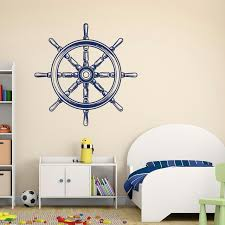 Nautical Nursery Wall Decals Ship Wheel Wall Decal Removable Vinyl