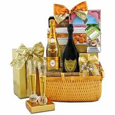 gourmet gift cristal dom pérignon chagne gourmet gift baskets for all