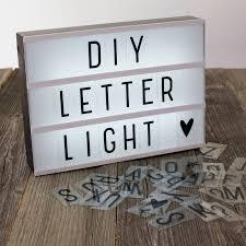 light box light bulbs retro cinema lightbox diy letters a4 and lightbox