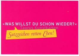 lustige sprüche postkarte satzzeichen retten ehen grusskartenshop de - Lustige Postkarten Spr Che