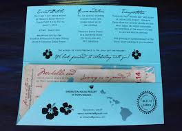hawaiian themed wedding invitations turquoise hawaiian themed antique boarding pass wedding