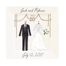 50th anniversary plate personalized personalized 50th anniversary plate timree