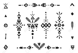 tribal collection with stroke line arrow decorative