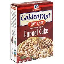 golden dipt fry easy funnel cake batter mix 8 oz pack of 6
