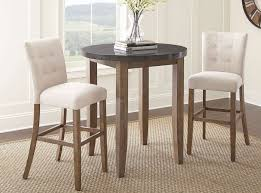 dining room bar table debby bar table set w beige chairs steve silver furniture