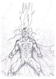 superman unleashed drawing akthar deviantart