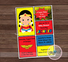 wonder woman baby shower invitation wonder woman baby