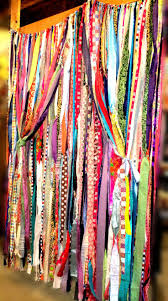 Hippie Curtains Drapes by Boho Gypsy Fabric Garland Streamers Curtain Dorm Teen Room