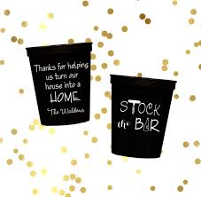 stock the bar party stock the bar party engagement party cups personalized plastic
