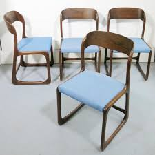 lot de 4 chaises traineau baumann