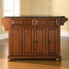 oak kitchen island with granite top darby home co pottstown kitchen island with granite top reviews