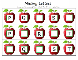 worksheets for kids activity kindergarten missing letters 4