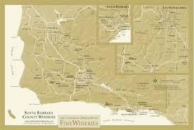 Sonoma Winery Map Map Of Fine Wineries In Santa Barbara County California